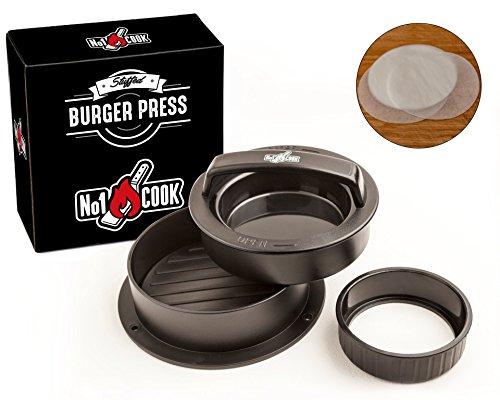 Non stick Hamburger Press Patty Maker with 30 Wax Paper...