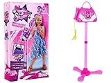 BSD Microfono Karaoke per Bambini Giocatolo Microfono con Supporto e Amplificatore a Forma di Borsetta