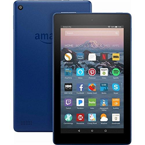 """All-New Fire 7 Tablet with Alexa, 7"""" Display, 8 GB, Marine Blue - with Special Offers"""