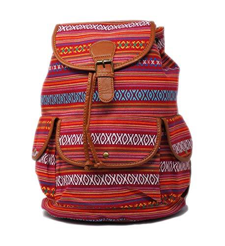 Mochila De Hombro Estilo Etnico Boho Informal Viajes Escolar Unisex Multicolor (Color 2)