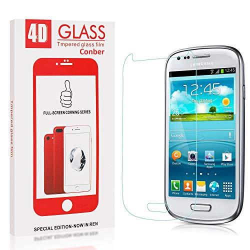 Conber [1 Stück] Displayschutzfolie kompatibel mit Samsung Galaxy S3 Mini, Panzerglas Schutzfolie für Samsung Galaxy S3 Mini [9H Härte][Hüllenfreundlich]