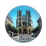 Weekino Souvenir Catedral Reims Francia Imán de Nevera Cristal 3D cristalino Viaje de la Ciudad Recuerdo de Viaje Regalo Fuerte Etiqueta Engomada del refrigerador