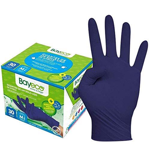 Bayeco Guante de Nitrilo Azul - PACK 30 unidades (M)