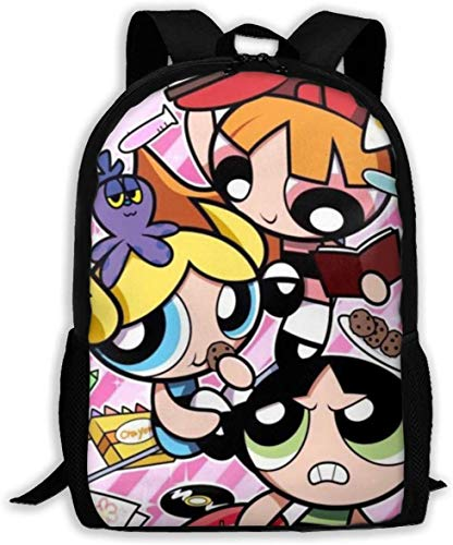 Kinder Schultaschen The Power-Puff Girls 3D Druck Rucksäcke Kinder Daypack für Jungen Mädchen