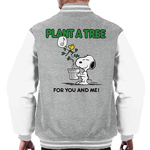 Peanuts Snoopy Plant A Tree Men's Varsity Jacket