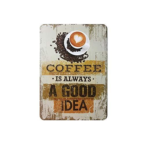 Placa Metal Vintage Coffee  marca SKYNINE INC