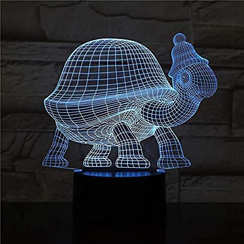 Christmas gift animal turtle led night light touch sensor 7&16M Color changing decorative lamp children kids baby kit night light turtle 3d lamp