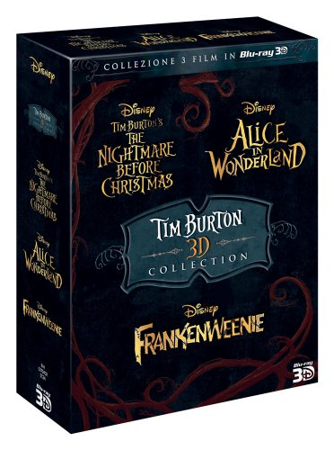 Tim Burton Collection (3 Films) - 6-Disc Box Set ( The Nightmare Before Christmas / Alice in Wonderland / Frankenweenie ) (3D & 2D) [ Blu-Ray, Reg.A/B/C Import - Italy ]