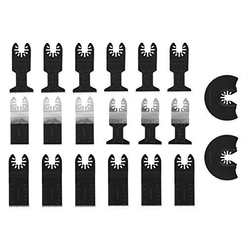 Juego de cuchillas multicortadoras universales, 20 piezas, cuchillas de sierra oscilantes de corte de madera, cuchilla de sierra multiherramienta, kit de accesorios para reparar cortes