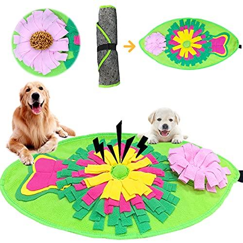 Sunshine smile Hund Schnüffelteppich Intelligenzspielzeug,Quietschendes, Hund Riechen Trainieren,Hunde Puzzle Matten,Schnüffelrasen Hundespielzeug,Schnüffeldecke Hunde Riechen,Decke Schnüffeln
