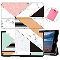 MAITTAO Case For Huawei MediaPad T3 8.0 KOB-L09/KOB-W09, Slim Folio Smart-Shell Stand Magnetic Cover for Huawei Mediapad T3 8.0 inch 2017 Released Tablet/Honor Play Pad 2 8, Marble 20