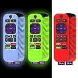 [3 Pcs] Alquar Remote Case for TCL Roku TV Steaming Stick 3600R Remote, Silicone Cover for TCL Roku Remote Control Anti/Drop/Slip/Scratch/Dust, Universal Sleeve for RCAL7R/3921/3800/3810