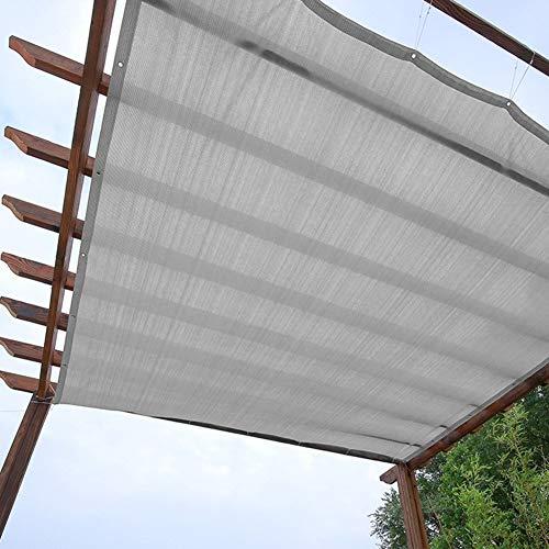 Velas de sombra Cubierta de Sombra Gris de Pérgola, Malla de Protección Solar Duradera con 80% de Bloque Ultravioleta y Borde con Cinta Adhesiva, Tela Protectora Solar para Vallas al Aire Libre y Jard