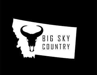 ND236W Montana Big Sky Country Decal Sticker   7-Inches By 4.3-Inches   Premium Quality White Vinyl