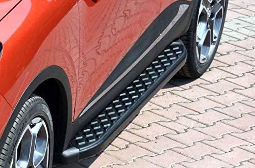 Trittbretter passend für Mercedes Benz ML W164 ab Baujahr 2005-2011 Model Hitit in Schwarz mit TÜV und ABE