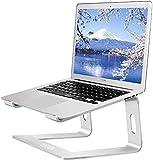 ノートパソコン スタンド ラップトップ ノート PCスタンド タブレットスタンド アルミ 取り外し可能 頸椎負担軽減/iPad/Macbook/Sony/Samsung/HPに対応 通気 放熱 (銀色)