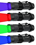 4 Pack Hunting Flashlight, Zoomable Red Flashlight...