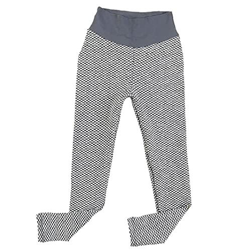 NIDONE Mujeres De Cintura Alta Pantalones De Yoga Butt Elevación De Control De La Panza De La Burbuja Cadera Elevación Entrenamiento Mallas para Correr S