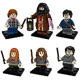 Harry Potter Figura - simyron 6 Piezas Bloques Mini Muñeca Para Niños Modelo Brick Toy DIY de Acción Coleccionable Juguetes Educativos Regalos