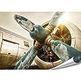 PMP-4life XXL Poster altes Flugzeug | 140x100cm |