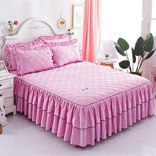 YFFS Bedding, Bed Skirts, Simple Style Silk Mattress Covers, Lace Bed Skirts, Cotton Bedspreads, A Variety of Colors, Suitable for Various Bed Types (9,180 x 200 cm)