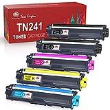 Toner Kingdom Cartucho de tóner compatible para Brother TN241 TN242 TN245 TN246 para MFC-9332CD DCP-9022CDW DCP-9020CDW MFC-9140CDN MFC-9142CDN DCP-9015CDW HL-3142CW HL-3152CDW HL-3170CDW