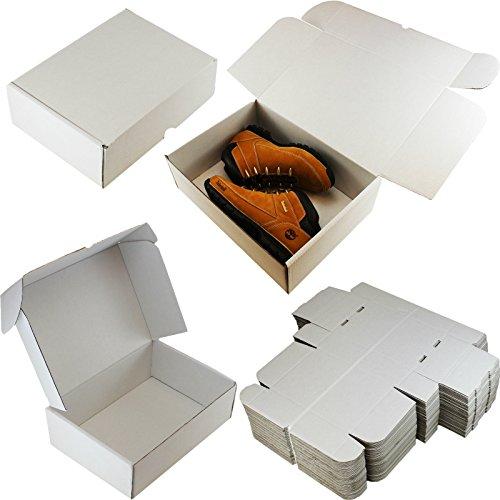 10 x WHITE BOXES PARCEL PACKET SHIPPING  SIZE : 15' x 11' x 5' (37.5cm x 27.5cm x 12.5cm) - FOR: SHOES TOYS CLOTHES CAKES LAPTOPS DOLLS BOOTS PARTS