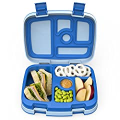 PORTIONED FOR KIDS: 5 practical compartments portioned perfectly for a child's appetite (recommended for ages 3-7). Plus, drop-proof, rubber-coated edges and a sturdy design for active kids. LEAK-PROOF TECHNOLOGY: Keeps meals and snacks fresh and mes...