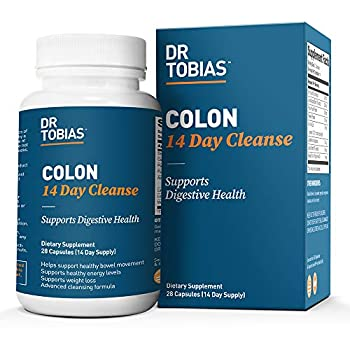 Dr Tobias Colon 14 Day Cleanse Supports Healthy Bowel Movements 28 Capsules  1-2 Daily