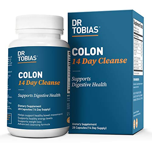 Dr. Tobias Colon 14 Day Cleanse - Quick, Effective & Natural - Supports Detox & Increased Energy Levels (28 Capsules)