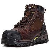 ROCKROOSER Work Boots for Men. 6'' Composite Toe Waterproof Leather Boot, Slip Resistant Rubber...