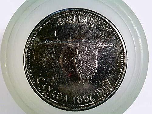 Münze Canada, 1 Silber Dollar 1967, Canadische Wildgans