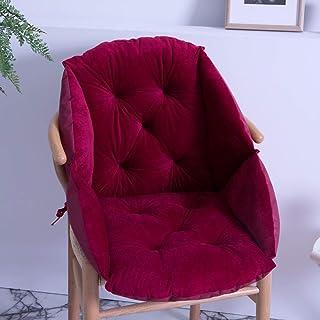 KongEU Cojín de respaldo para sillón, cojines de asiento de moda, cojines de asiento para interiores y exteriores, cojines para sillón, cojines de jardín (52 x 48 cm), color rojo