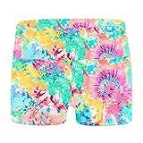 Moggemol Kids Girls Gymnastics Dance Shorts Tie Dye Athletic Booty Shorts Gym Yoga Running Activewear Shorts Colorful Tie Dye 8