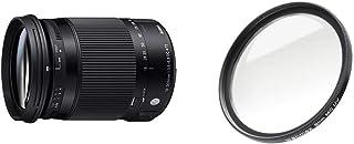 Sigma 18 300mm F3,5 6,3 DC Macro OS HSM Contemporary Objektiv (72mm Filtergewinde) für Nikon Objektivbajonett & Walimex Pro UV Filter Slim MC 72 mm (inkl. Schutzhülle)
