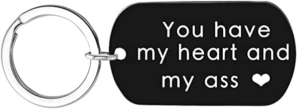 You Have My Heart and My Ass Keychain Boyfriend Girlfriend Gifts Keyring I Love You Wife Husband Gifts