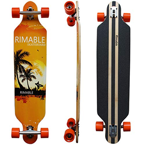 RIMABLE Drop-Through Longboard Surf