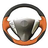 YHDNCG DIY Coser a Mano de Cuero Negro Volante del Coche Cubierta del Coche Accesorios de decoración, para Nissan Tiida Versa Sylphy Sentra 2014-2017 Nota