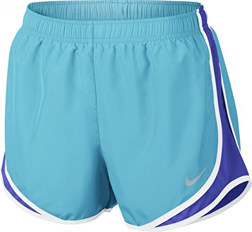 Nike Women's 3'' Dry Tempo Running Shorts (Igloo/Blue Force/W/Wg/X-Small)