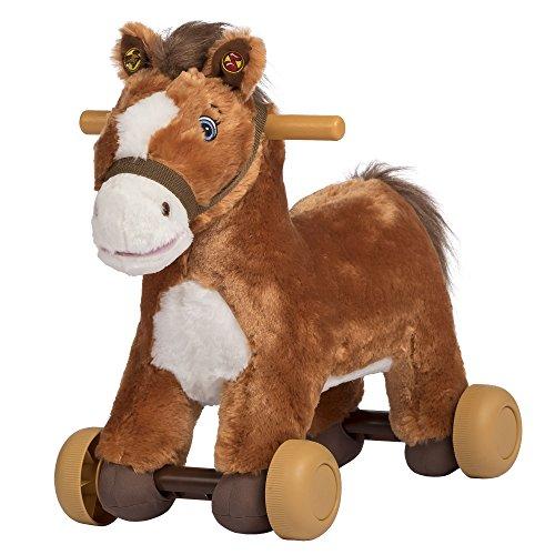 Rockin Rider Peanut Rolling Pony Plush, Brown