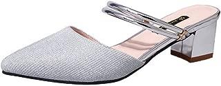 zaragfushfd Womens Shoes Open Toe with Polished Cylinder Heels