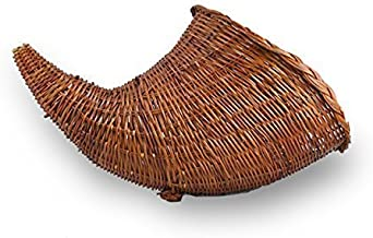 The Lucky Clover Trading 7006L Harvest Fern Cornucopia, Large Basket, Brown