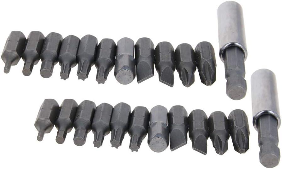 Utoolmart 1 Set 1//4Hex Shank Screwdriver Drill Bit 5 6 PH1 PH2 H2 H3 H4 T15 T20 T25 AD 11pcs Magnetic Extension Extend Socket Drill Bit Holder