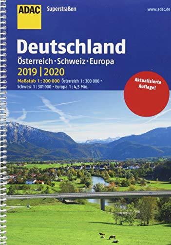 ADAC Superstraßen Deutschland, Österreich, Schweiz & Europa 2019/2020 1:200 000 (ADAC Atlanten)