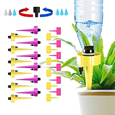 getbear Self Watering Spikes, Adjustable Plant Watering, Automatic Drip Irrigation Plant Waterer with Slow Release Control Valve Switch, Self Irrigation Watering Drip Devices Suitable for All Bottle from getbear