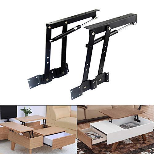 Sauton Sauton 1pair Folding Lift up Top Table Mechanism Hardware Fitting Hinge, Gas Hydraulic Lift up Table Mechanism