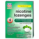 Rite Aid Nicotine Lozenges, Mint Flavor, 4mg - 72 ct | Stop Smoking Aid
