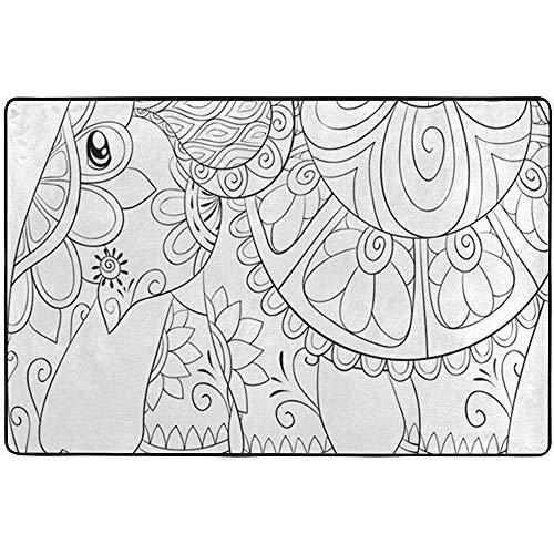 If Not Ausmalbilder zum Ausmalen Cute Elephant Relaxing Animals Wildlife Superweiche Teppiche Teppich Schlafzimmer Teppich