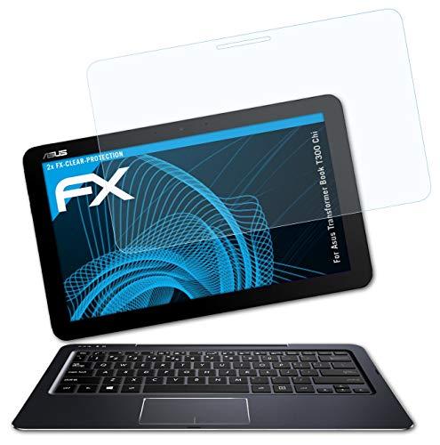 atFolix Schutzfolie kompatibel mit Asus Transformer Book T300 Chi Folie, ultraklare FX Bildschirmschutzfolie (2X)