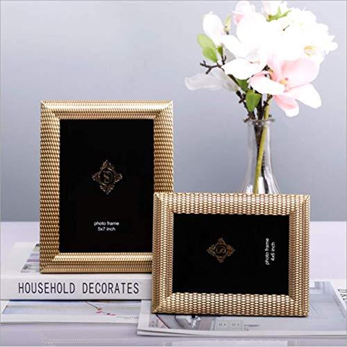 Fotolijst van metaal, eenvoudig, zuiver koper, decoratie voor thuis, 15,2 cm / 17,8 cm / 15,2 cm / 17,8 cm 7inch